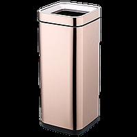 Ведро для мусора JAH 30 л розовое золото без крышки и внутреннего ведра, фото 1