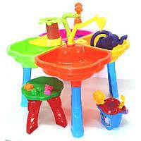Песочный столик с набором, стульчиком (01-121-1)