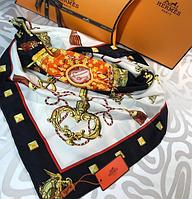 Брендовый шелковый платок Гермес