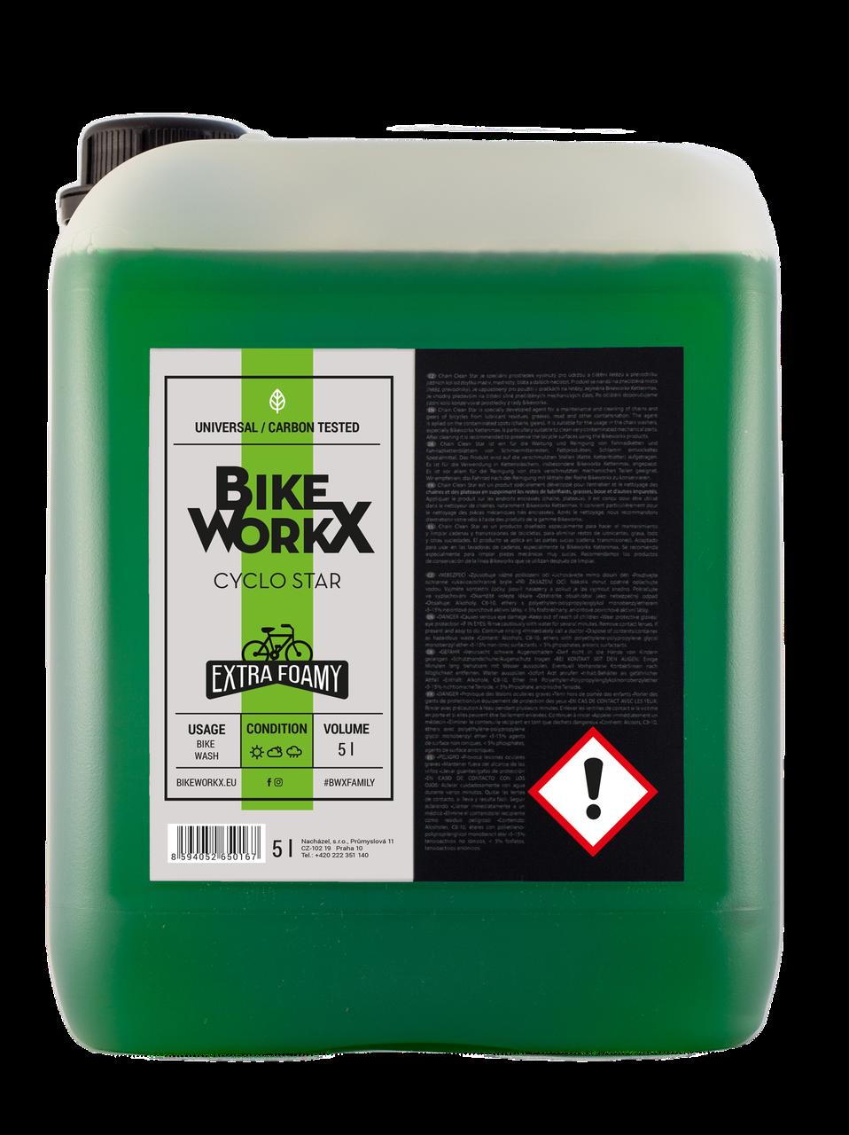 Очиститель BikeWorkX Cyclo Star канистра 5л