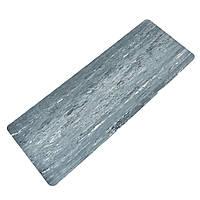 Коврик для фитнеса и йоги Резиновый 4мм FI-0567 (размер 1,83мx0,68мx4мм, цвета в ассортименте) Серый, фото 1