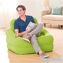 "Надувное кресло Intex 68586 ""ACCENT CHAIR - лайм"" 97х107х71 см, фото 3"