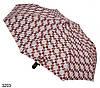 Зонт женский полуавтомат геометрия коричневый