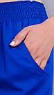 Брюки женские летние большого размера Миранда электрик, фото 5