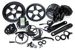 Электрический велонабор Bafang 48В 500Вт BBS02 68мм 46T дисплей С965, ручка газа, тормозные ручки