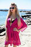 Пляжна туніка купити коротка парео пляжна туніка шифоновий халат, фото 4