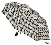 Зонт женский полуавтомат зеленый рисунок геометрия
