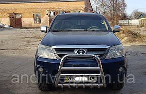Кенгурятник высокий (защита переднего бампера) Toyota Fortuner 2005-2011