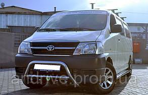 Кенгурятник с грилем (защита переднего бампера) Toyota Hiace 2007+
