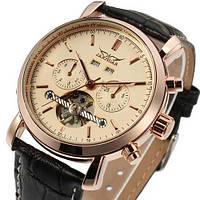 Статусные мужские механические часы Jaragar 540 Black-Cuprum с турбийоном