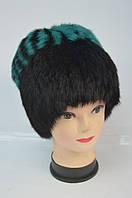 Зимняя женская шапка-кубанка черная