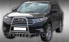 Кенгурятник высокий (защита переднего бампера) Toyota Highlander 2007-2013