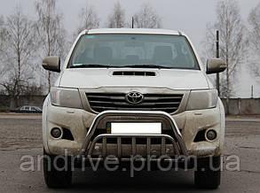 Кенгурятник двойной (защита переднего бампера) Toyota Hilux 2004-2015