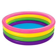 Детский надувной бассейн Intex 56441 4 кольца 715 л 168-46 см Разноцветный