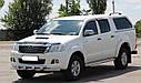 Защита переднего бампера (ус двойной SHARK) Toyota Hilux 2004-2015, фото 2