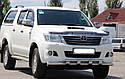 Защита переднего бампера (ус двойной SHARK) Toyota Hilux 2004-2015, фото 3
