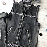 Летний джинсовый костюм на мальчика 40. Размер 7 лет, 8 лет, фото 2