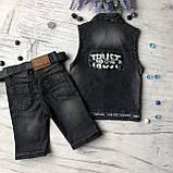 Летний джинсовый костюм на мальчика 40. Размер 7 лет, 8 лет, фото 4
