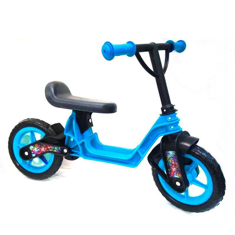 """Велобег 10""""  EVA колеса Голубой(Cosmo bike) Kinderway"""