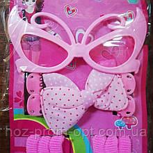 Набор для девочки с очками, 12 предметов.