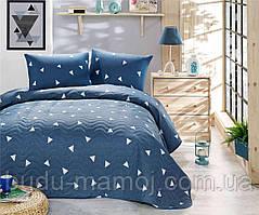 Летнее одеяло - покрывало Стеганое  Двустороннее 200x220 см. с 2- мя Наволочками 50x70 см Турция