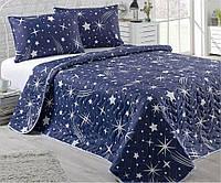 Легкое одеяло - покрывало Стеганое  Двустороннее 200x220 см. с 2- мя Наволочками 50x70 см Турция