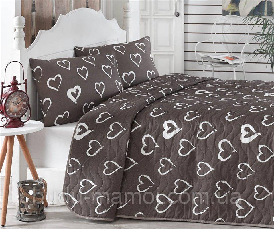 Покрывало - одеяло Стеганое  Двустороннее 200x220 см. с 2- мя Наволочками 50x70 см Турция