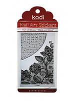 Nail Art Stickers LC055 Black