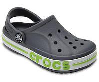 Кроксы детские Crocs Bayaband Clog серые (J) разм.