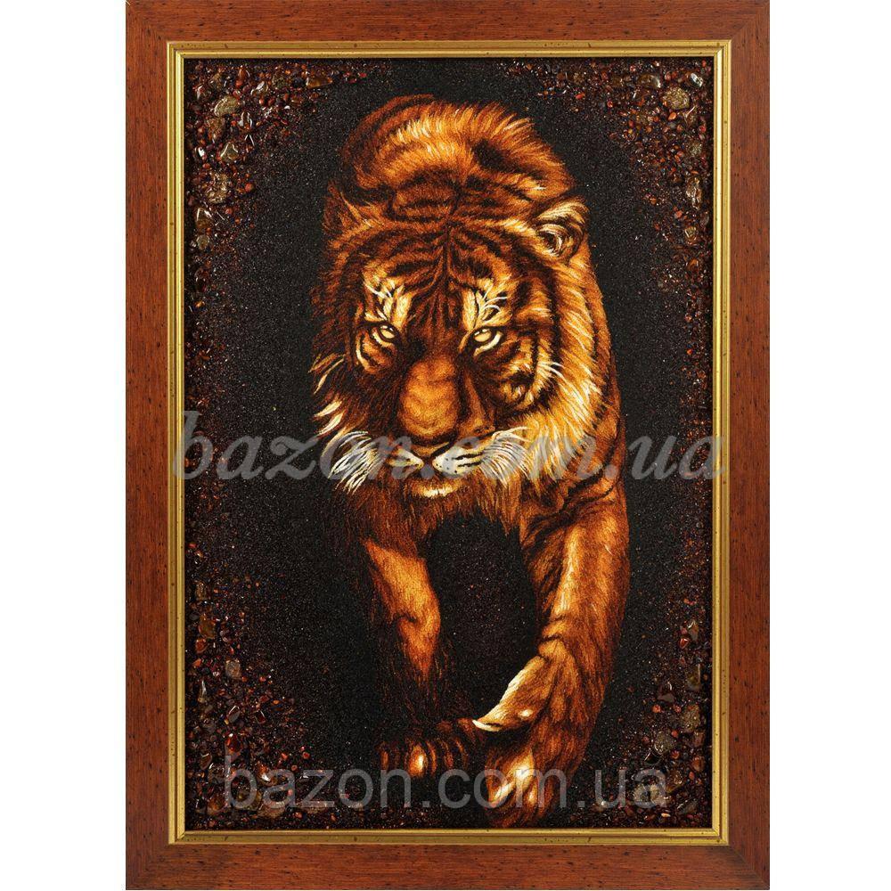 """Картина из янтаря """"Тигр"""""""