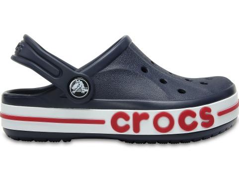 Детские кроксы Crocs Bayaband Clog сине-красные (J) разм.