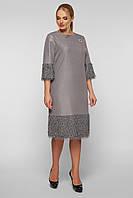 Нарядное платье Тереза  серебро, фото 1