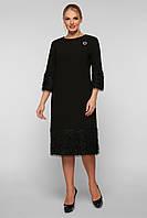 Женское платье Тереза  черное, фото 1