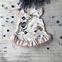 Летнее красивое платье на девочку. Размер 68 см, 74 см,