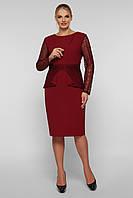 Нарядное платье Дженифер бордо, фото 1