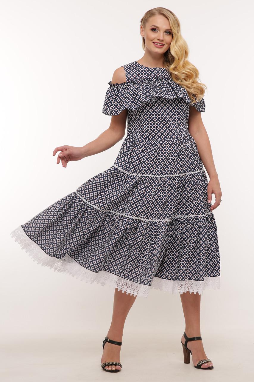 Нарядное платье Таяна цветы