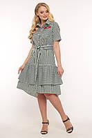 Платье летнее Кэт зеленая полоска, фото 1