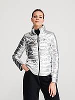 Женская куртка из ткани с легким блеском стеганая укороченная приталенная(ECO AWARE), Reserved 38 EUR (UK10)