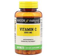 Витамин C, Mason Natural, 1,000 мг, 100 таблеток