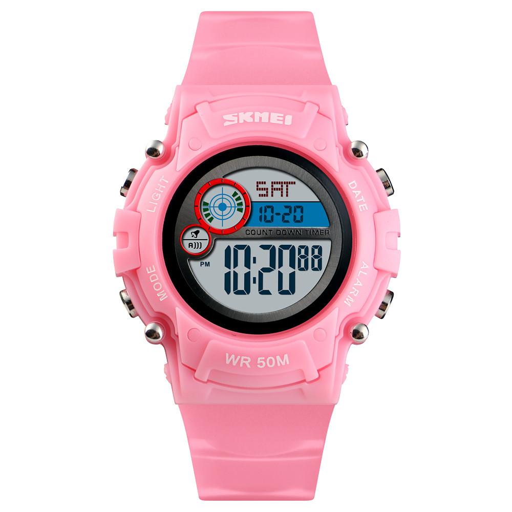 Skmei 1477 розовые детские спортивные часы