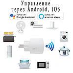 Умная розетка Wi-Fi управление Wi-smart Plug комплект 3 шт розетка с таймером с голосовым управлением, фото 3