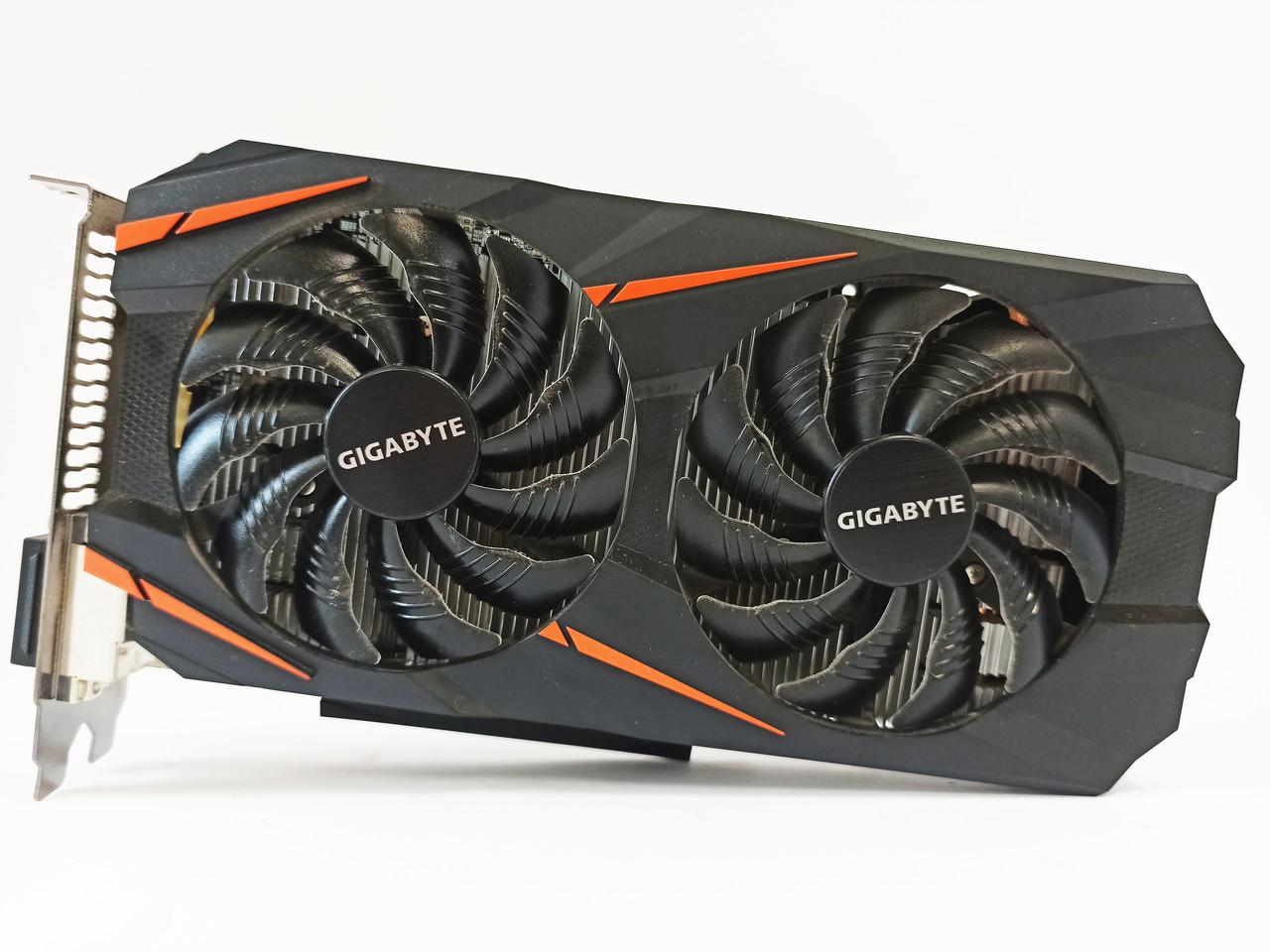 Видеокарта Gigabyte GTX 1060 (3GB/GDDR5/192bit) GV-N1060WF2OC-3GD-MI БУ