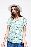 Летняя блуза с принтом для беременных и кормящих мам MIRRA BL-20.012, фото 5