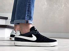 Мужские замшевые кроссовки Nike,черно белые, фото 2