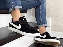 Мужские замшевые кроссовки Nike,черно белые, фото 3