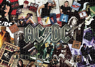 Пазл Aquarius 1000 эл музыка AC/DC AQUARIUS AC DC Collage Jigsaw Puzzle, фото 2