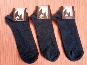 Носки мужские укороченные р.27-29 хлопок стрейч Украина. Цвет синий (джинс).От 6 пар по 6грн.