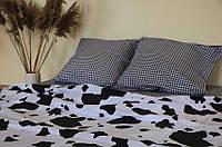 Комплект постельного белья размер ДВУСПАЛЬНЫЙ материал - бязь черно-белый долматинец