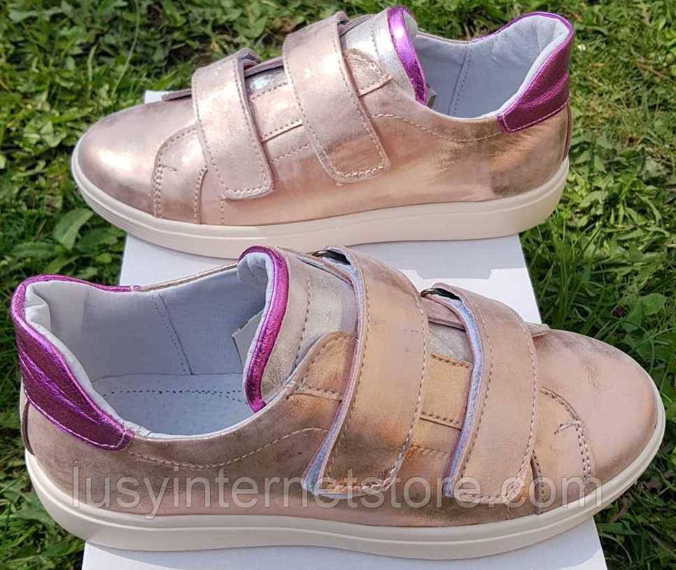 Кроссовки детские на липучках розовые от производителя модель ДЖ7074