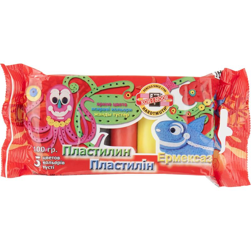 Koh-I-Noor Пластилин, полиэт.уп., 5 цветов, 01315S0501PSRU
